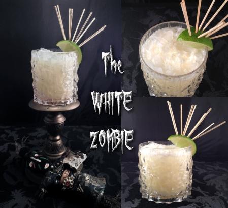 white zombie collage